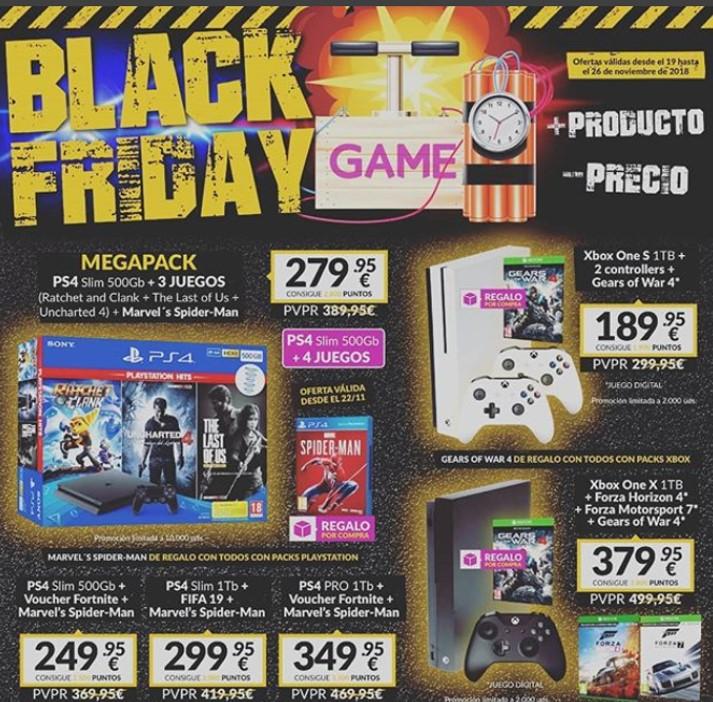 Black Friday en GAME