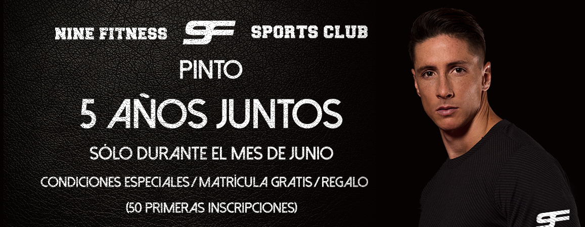 Matrícula gratis en Nine Fitness