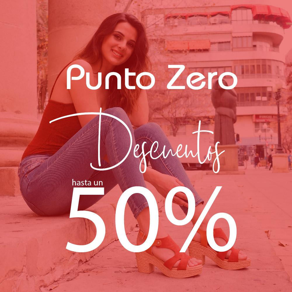 Rebajas al 50% en Punto Zero