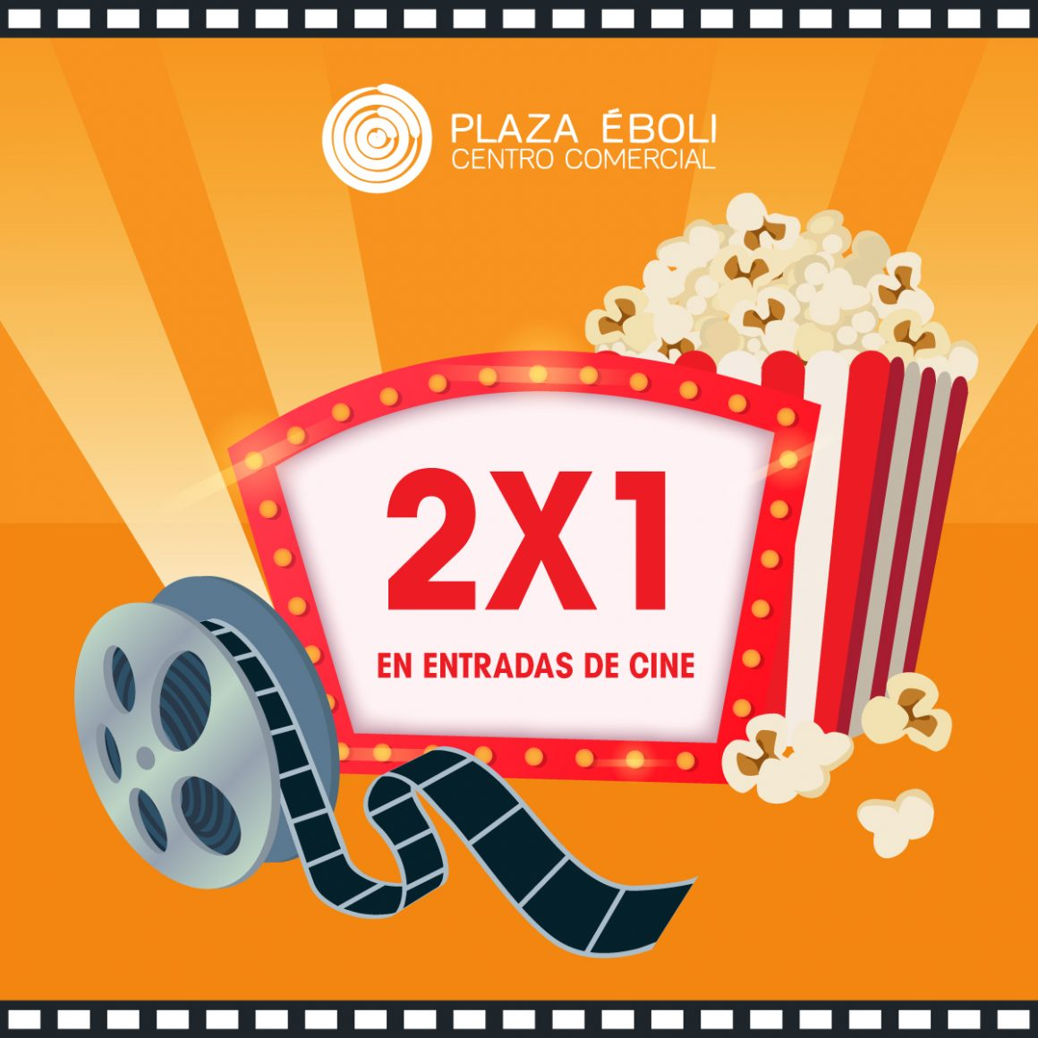 Sorteo semanal 2×1 en cine