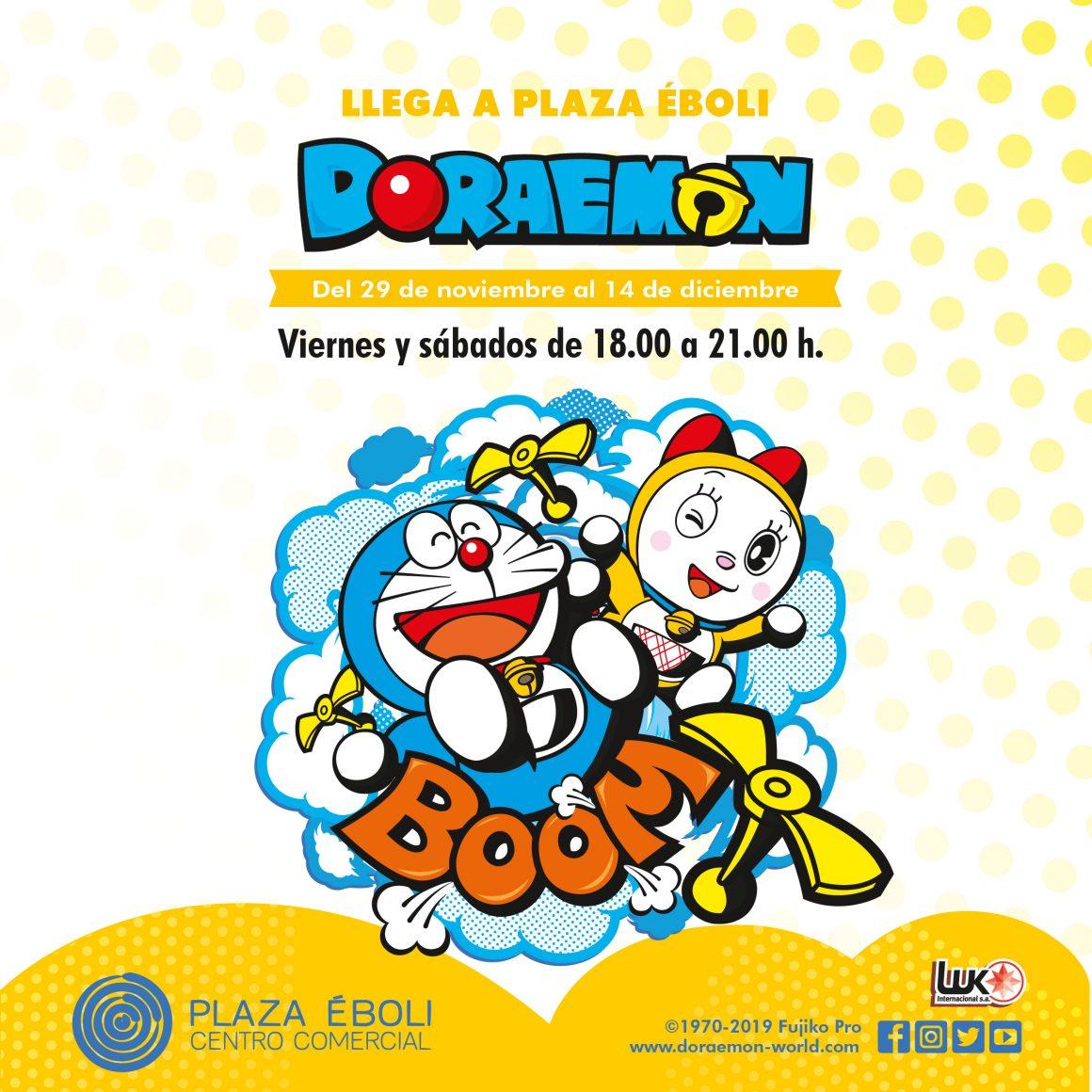 Doraemon llega a Plaza Éboli