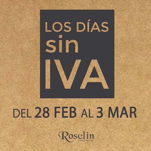 Días sin IVA Roselín Joyeros