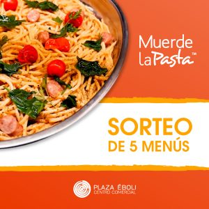 Sorteo 5 menús Muerde La Pasta