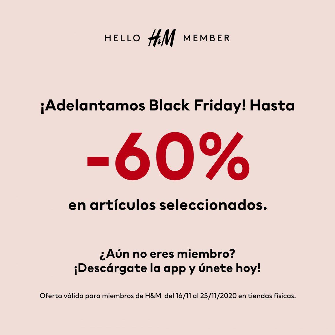Black Friday en HM para miembros HMClub