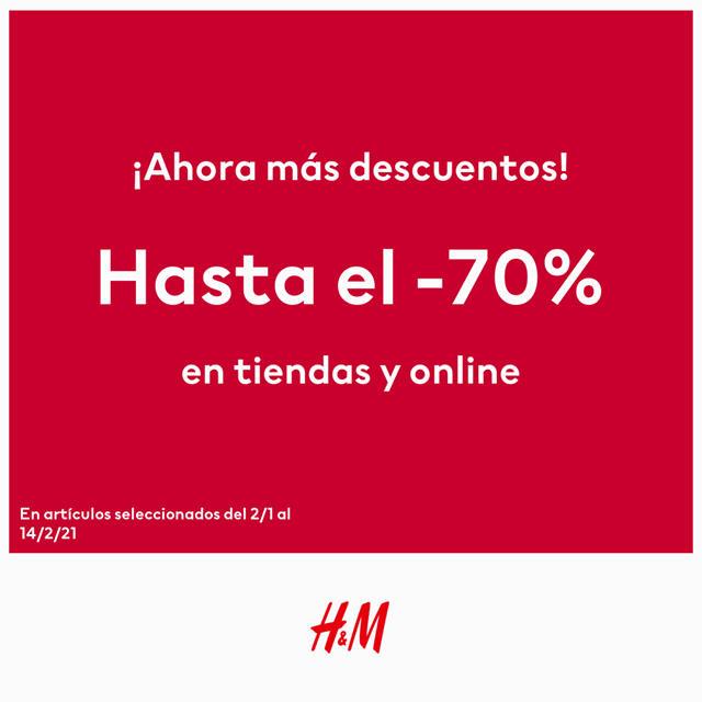 ¡Ahora más descuentos en H&M!