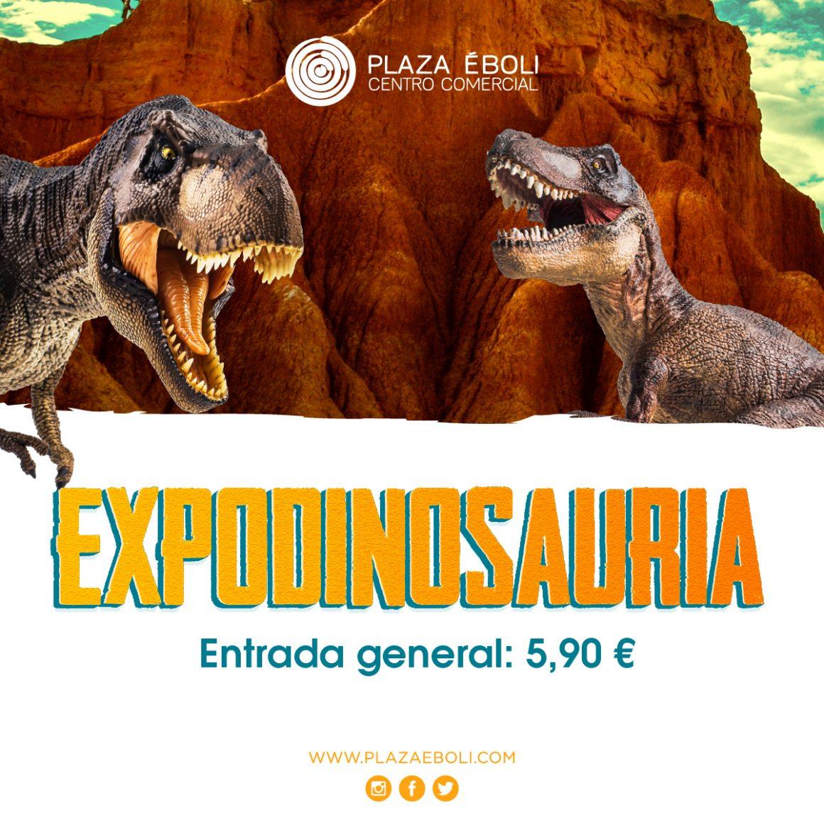 ¡Expodinosauria ha llegado a Plaza Éboli!